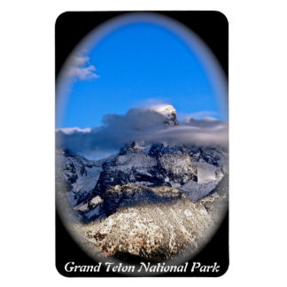 GRAND TETONS SHROUDED IN STORM CLOUDS RECTANGULAR PHOTO MAGNET
