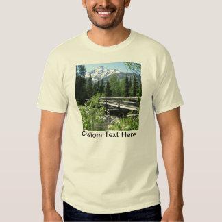 Grand Tetons Spring Snow and Wood Bridge Tee Shirts
