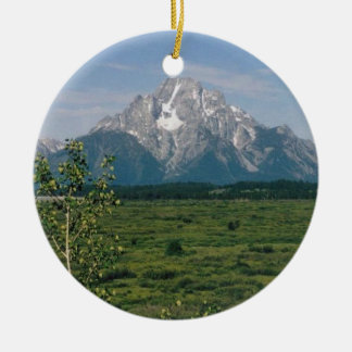 Grand Tetons- Wyoming Ceramic Ornament