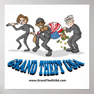 Grand Theft USA Poster