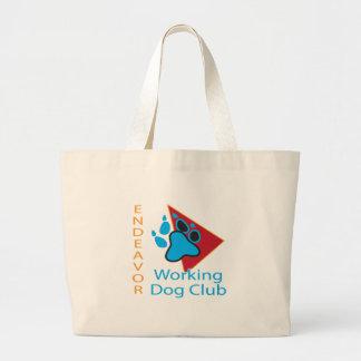 Grand Tote Bag Éléphant Fourre-tout de logo de club de chien
