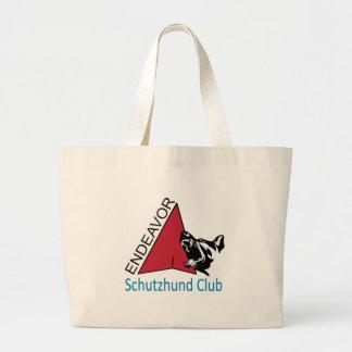 Grand Tote Bag Éléphant Fourre-tout de logo de club de Schutzhund