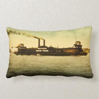 Grand Trunk Railroad Antique Vintage Postcard Lumbar Pillow