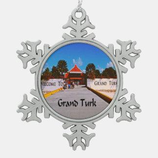 Grand Turk Snowflake Pewter Christmas Ornament