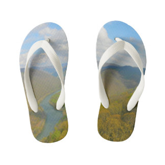 Grand View Overlook Raleigh County Kid's Flip Flops