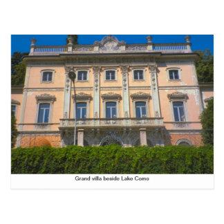Grand villa beside Lake Como Postcard