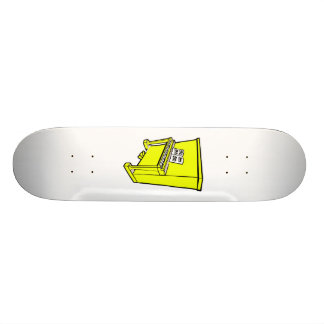 grand yellow upright piano with music.png skate board deck