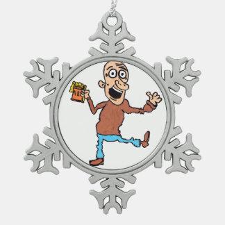 Grandad Snowflake Snowflake Pewter Christmas Ornament