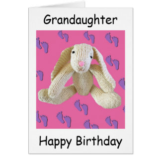 Grandaughter birthday bunny rabbit card