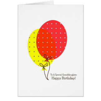 Grandaughter Birthday Cards, Big Colorful Balloons Card