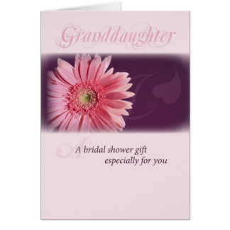 Grandaughter, Bridal Shower Pink Daisy Card