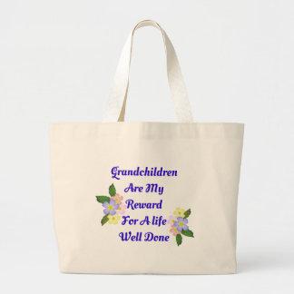 Grandchildren Are My Reward Large Tote Bag