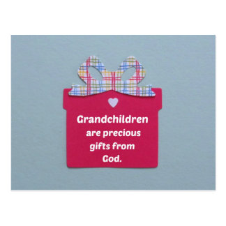 Grandchildren are Precious Gifts from God Postcard