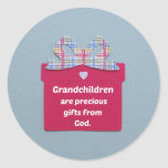 Grandchildren are Precious Gifts from God Round Stickers