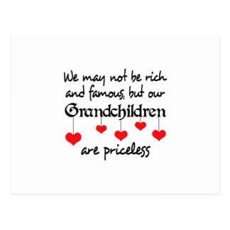 GRANDCHILDREN ARE PRICELESS POSTCARD