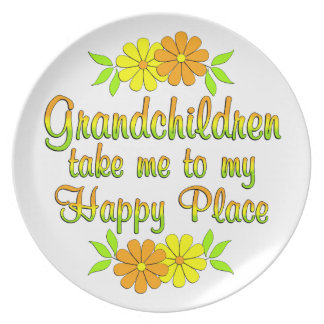 Grandchildren Happy Place Plate