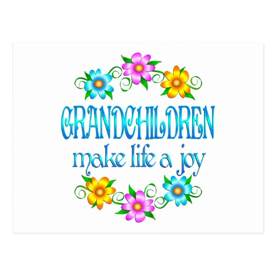 Grandchildren Joy Postcard