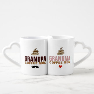 granddad & grandmom idea coffee mug set
