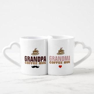 granddad & grandmom idea coffee mug set