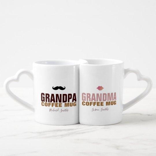 granddad & grandmom lovers mug with their names