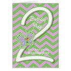 Granddaughter 2nd Birthday Butterfly Hugs Card