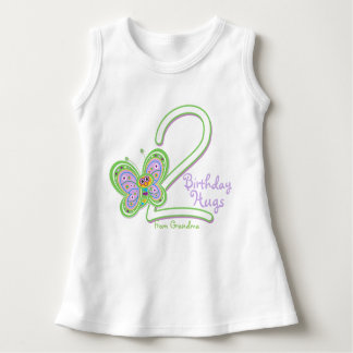 Granddaughter 2nd Birthday Butterfly Hugs Dress