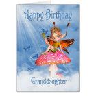 Granddaughter Birthday Card - Cute Fairy On A Mush