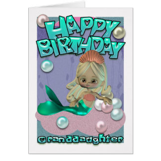 Granddaughter Birthday Card With Mermaid