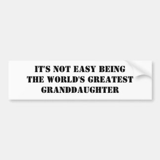 Granddaughter Bumper Sticker