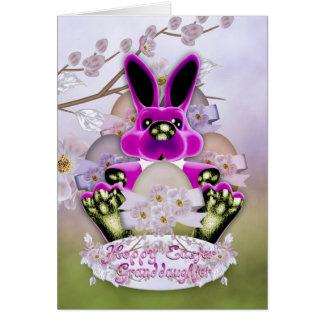 Granddaughter Cute Easter Bunny Greeting Card