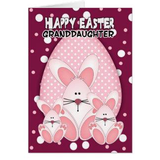Granddaughter, Easter Bunny Greeting Card