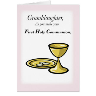 Granddaughter First Communion Card