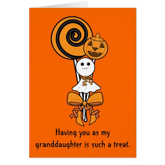 Granddaughter Halloween Card: Three Sweet Treats Card