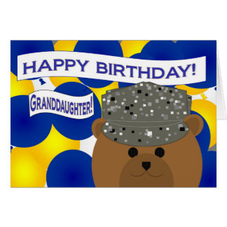 Granddaughter Happy Birthday Air Force Active Duty Card