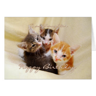 Granddaughter Happy Birthday Trio of Kittens Card