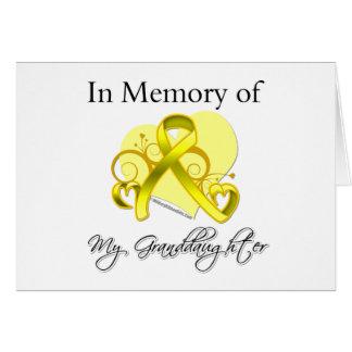 Granddaughter - In Memory of Military Tribute Card