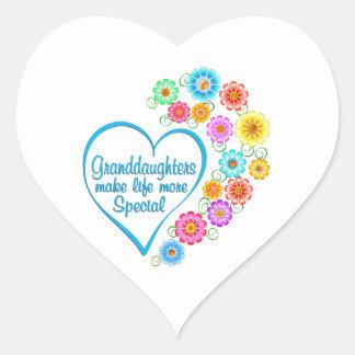 Granddaughter Special Heart Heart Sticker