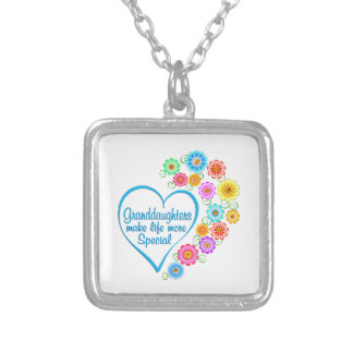 Granddaughter Special Heart Silver Plated Necklace