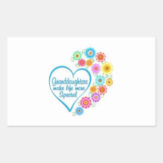 Granddaughter Special Heart Sticker