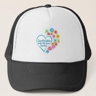 Granddaughter Special Heart Trucker Hat