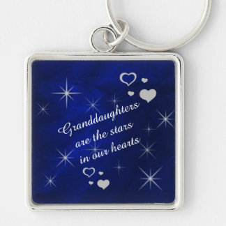 Granddaughter Star Heart Keychain