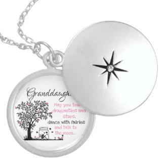 Granddaughters and Fairies Sterling Silver Necklace
