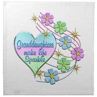Granddaughters Make Life Sparkle Napkin