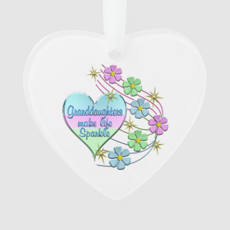 Granddaughters Make Life Sparkle Ornament