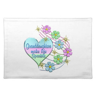 Granddaughters Make Life Sparkle Placemat