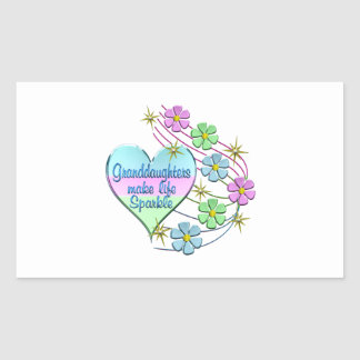 Granddaughters Make Life Sparkle Sticker