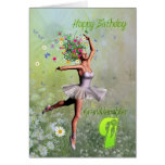 Grandddaughter age 9, flower fairy birthday card