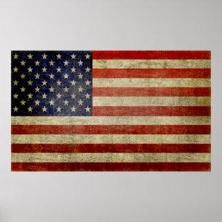 Grande affiche de drapeau américain (peut être rem