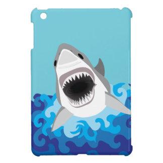 Grande bande dessinée drôle de requin blanc coques pour iPad mini
