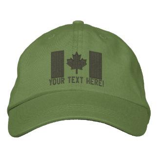 Grande broderie canadienne personnalisée de casquettes de baseball brodées